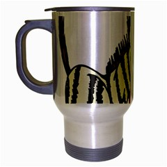 Zebra Animal Alphabet Z Wild Travel Mug (silver Gray)