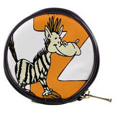 Zebra Animal Alphabet Z Wild Mini Makeup Bag by Samandel