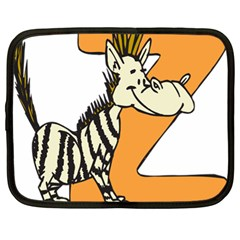 Zebra Animal Alphabet Z Wild Netbook Case (xl) by Samandel