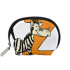 Zebra Animal Alphabet Z Wild Accessory Pouch (small)