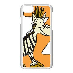 Zebra Animal Alphabet Z Wild Apple Iphone 8 Seamless Case (white)