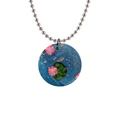 Water Lillies Button Necklaces