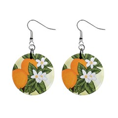 Orange Blossoms Mini Button Earrings