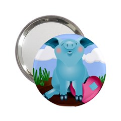 Pig Animal Love 2 25  Handbag Mirrors