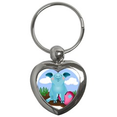 Pig Animal Love Key Chains (heart)