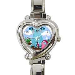 Pig Animal Love Heart Italian Charm Watch by Samandel