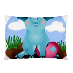 Pig Animal Love Pillow Case (two Sides) by Samandel