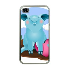 Pig Animal Love Apple Iphone 4 Case (clear) by Samandel