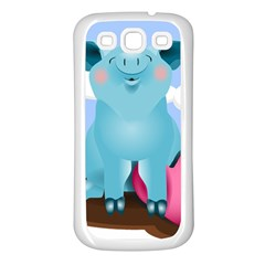 Pig Animal Love Samsung Galaxy S3 Back Case (white)