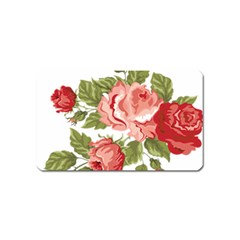 Flower Rose Pink Red Romantic Magnet (name Card)