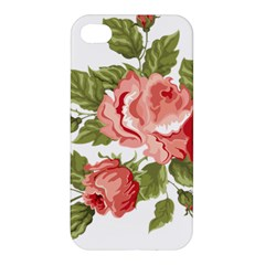 Flower Rose Pink Red Romantic Apple Iphone 4/4s Hardshell Case by Samandel