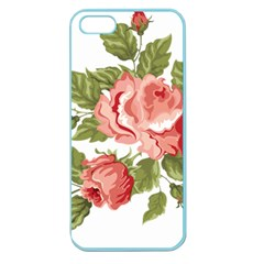 Flower Rose Pink Red Romantic Apple Seamless Iphone 5 Case (color)