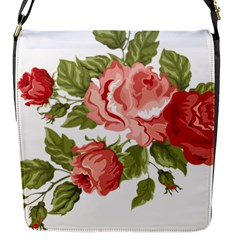 Flower Rose Pink Red Romantic Flap Closure Messenger Bag (s)