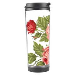 Flower Rose Pink Red Romantic Travel Tumbler by Samandel