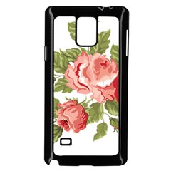 Flower Rose Pink Red Romantic Samsung Galaxy Note 4 Case (black)