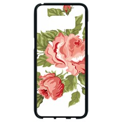 Flower Rose Pink Red Romantic Samsung Galaxy S8 Black Seamless Case