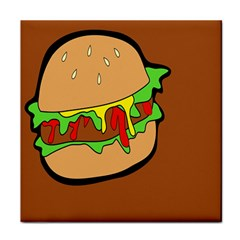 Burger Double Tile Coasters by Samandel