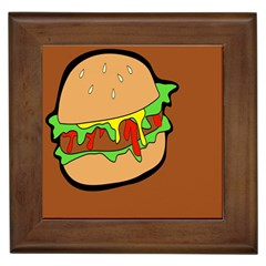 Burger Double Framed Tiles