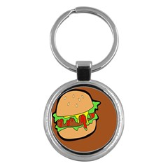 Burger Double Key Chains (round)  by Samandel