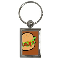 Burger Double Key Chains (rectangle)  by Samandel