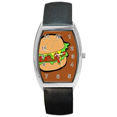 Burger Double Barrel Style Metal Watch