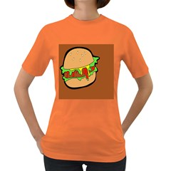 Burger Double Women s Dark T Shirt