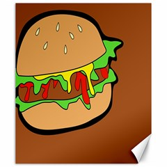 Burger Double Canvas 20  X 24  by Samandel