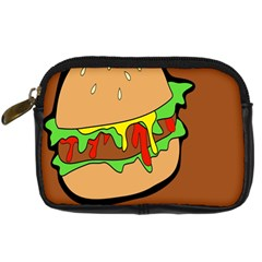 Burger Double Digital Camera Leather Case by Samandel