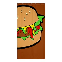 Burger Double Shower Curtain 36  X 72  (stall)
