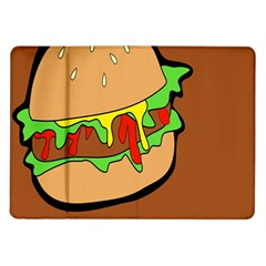 Burger Double Samsung Galaxy Tab 10 1  P7500 Flip Case