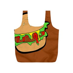 Burger Double Full Print Recycle Bag (s) by Samandel