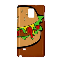 Burger Double Samsung Galaxy Note 4 Hardshell Case by Samandel