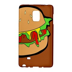 Burger Double Samsung Galaxy Note Edge Hardshell Case by Samandel
