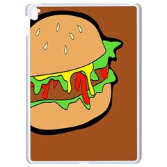 Burger Double Apple Ipad Pro 9 7   White Seamless Case by Samandel