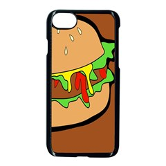 Burger Double Apple Iphone 8 Seamless Case (black)