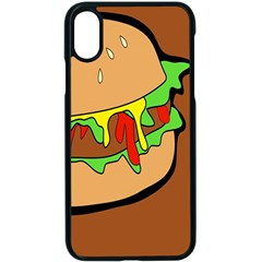Burger Double Apple Iphone X Seamless Case (black) by Samandel