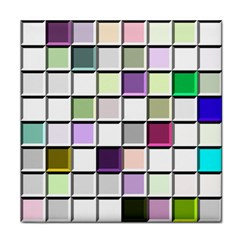 Color Tiles Abstract Mosaic Background Tile Coasters by Samandel