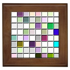 Color Tiles Abstract Mosaic Background Framed Tiles by Samandel