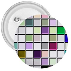 Color Tiles Abstract Mosaic Background 3  Buttons by Samandel