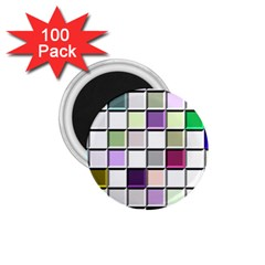 Color Tiles Abstract Mosaic Background 1 75  Magnets (100 Pack)  by Samandel