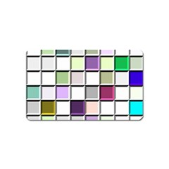 Color Tiles Abstract Mosaic Background Magnet (name Card) by Samandel