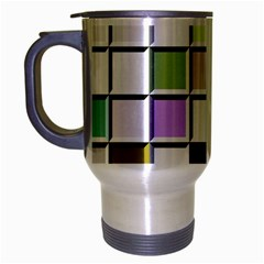 Color Tiles Abstract Mosaic Background Travel Mug (silver Gray)