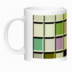 Color Tiles Abstract Mosaic Background Night Luminous Mugs by Samandel