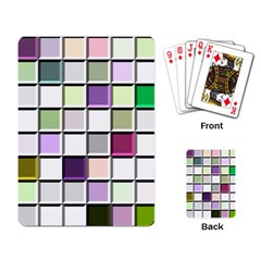 Color Tiles Abstract Mosaic Background Playing Cards Single Design