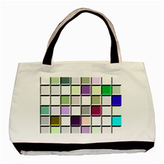 Color Tiles Abstract Mosaic Background Basic Tote Bag (two Sides)