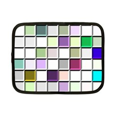 Color Tiles Abstract Mosaic Background Netbook Case (small)