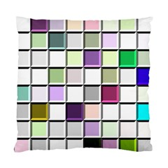 Color Tiles Abstract Mosaic Background Standard Cushion Case (one Side) by Samandel