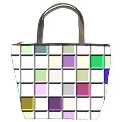 Color Tiles Abstract Mosaic Background Bucket Bag