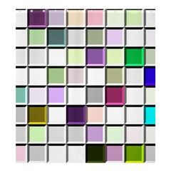 Color Tiles Abstract Mosaic Background Shower Curtain 66  X 72  (large)  by Samandel