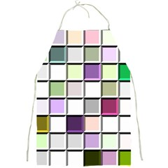 Color Tiles Abstract Mosaic Background Full Print Aprons by Samandel